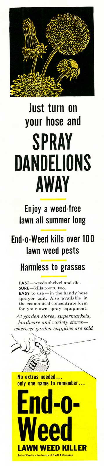 1961-era ad for residential lawn weedkiller | Photo: Classic Film, some rights reserved