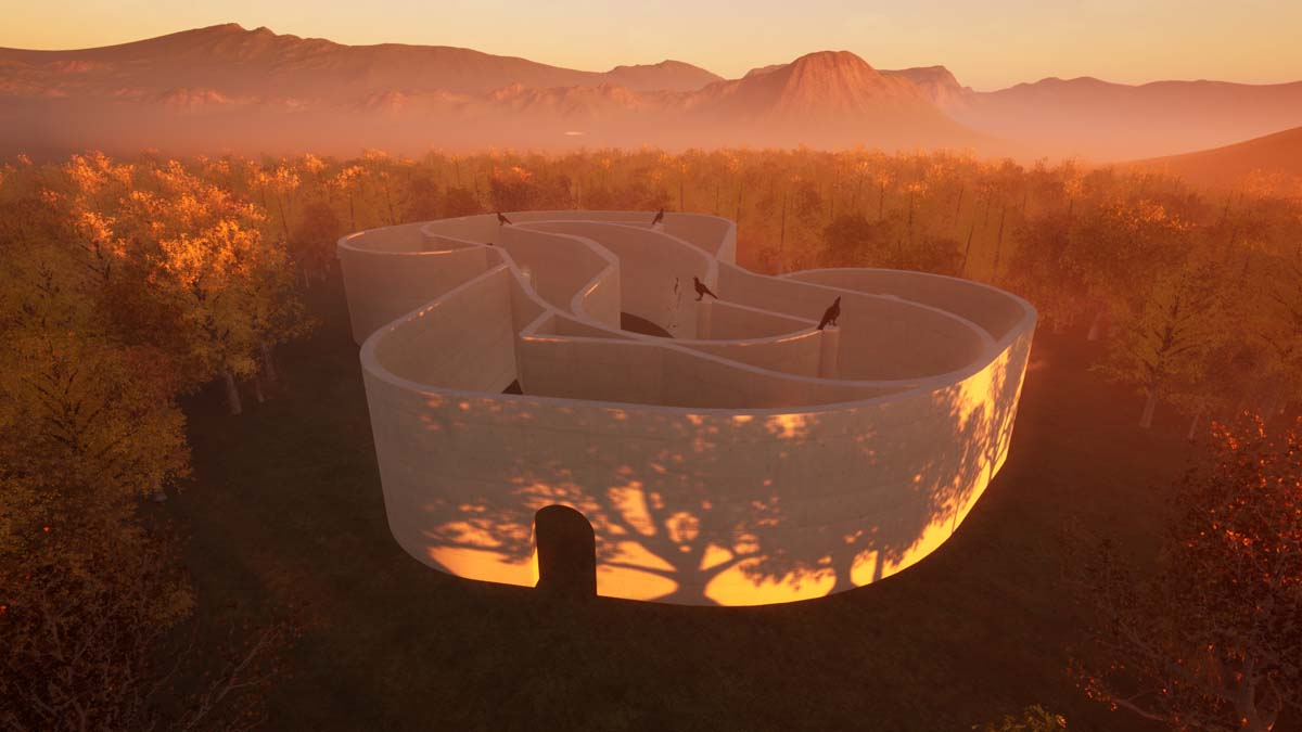 Installation view of EPOCH's Labyrinth exhibition.   Courtesy of EPOCH