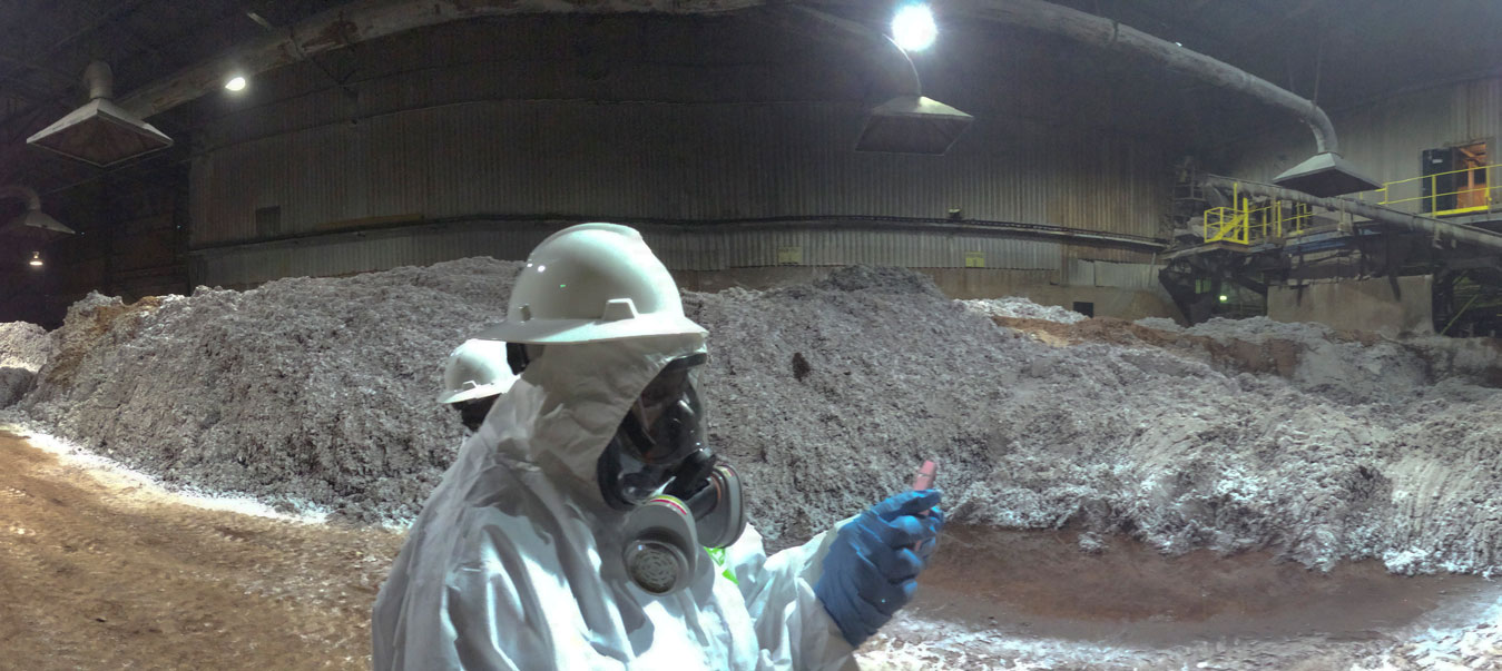 A vew inside the Reverb Furnace Feedstock Room during a site visit of the Exide Technologies' Vernon, Calif. facility by the Department of Toxic Substances Control in 2014. | Public Domain