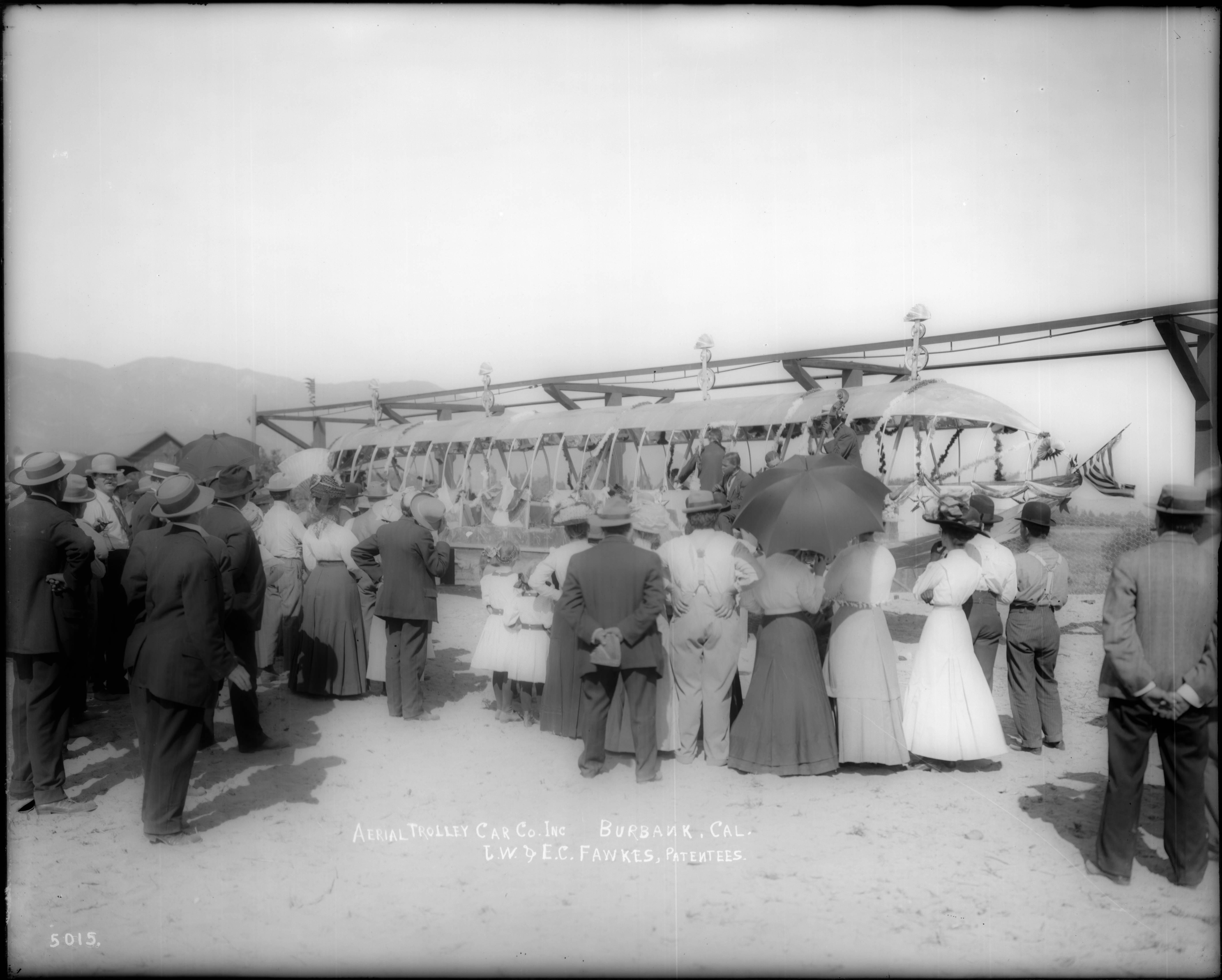 Aerial Swallow (experimental monorail, Burbank, 1910-12)