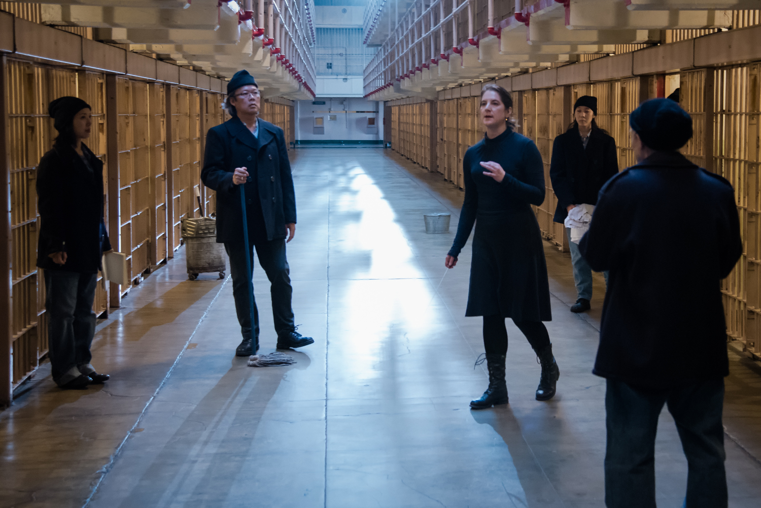 "Filming ""Vireo"" in Alcatraz. Photo: David Soderlund"