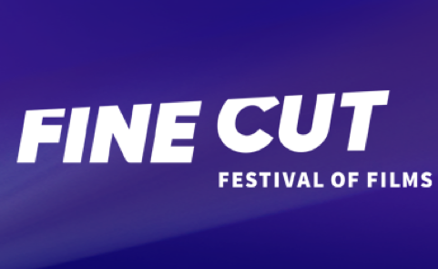 Fine Cut Festival of Films Logo on Purple Background