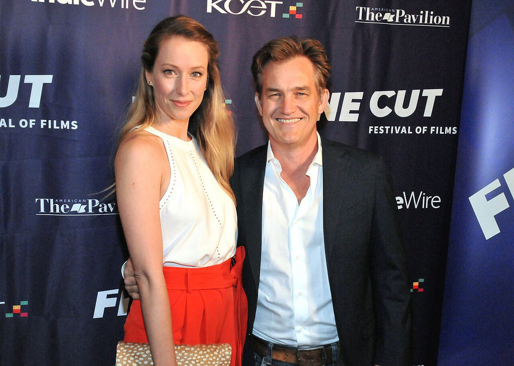 Actress Alexis Boozer Sterling and actor Maury Sterling arrive at FINE CUT Festival of Films at the Directors Guild of America