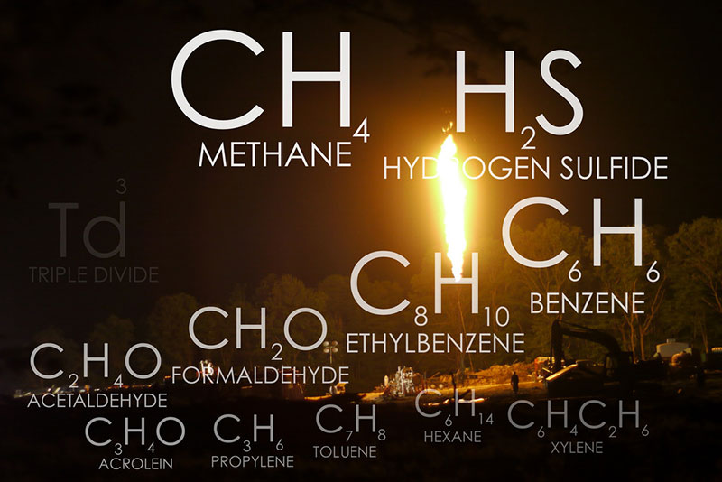 Methane flaring and its resulting pollutants | Image: Public Herald, some rights reserved