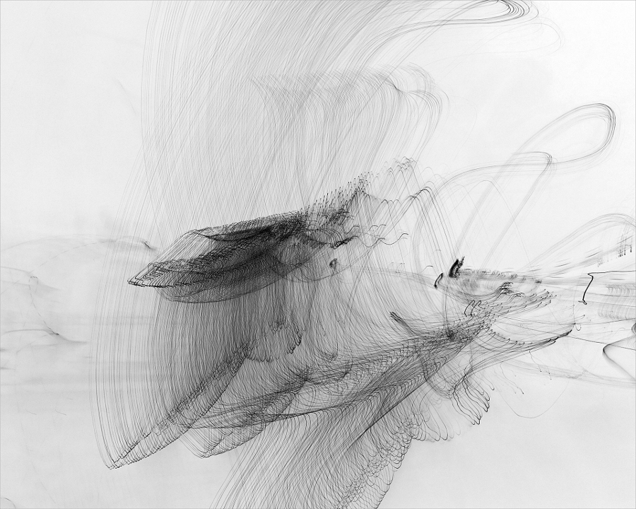 """Flying with Me"" by Echo Lew, 2012, Photography of moving light printed in ink on fine art paper."