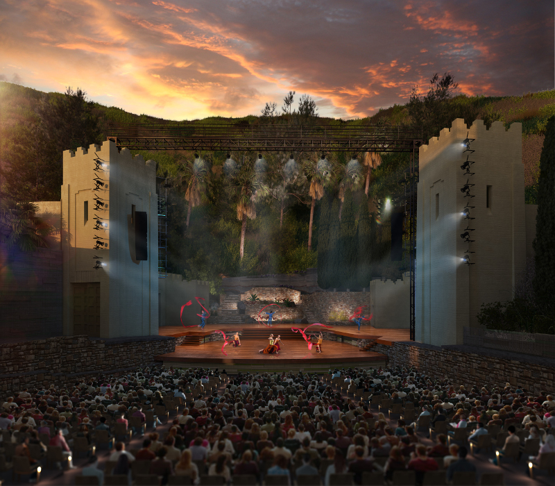 Ford Theatre rendering of stage by Levin & Associates Architects