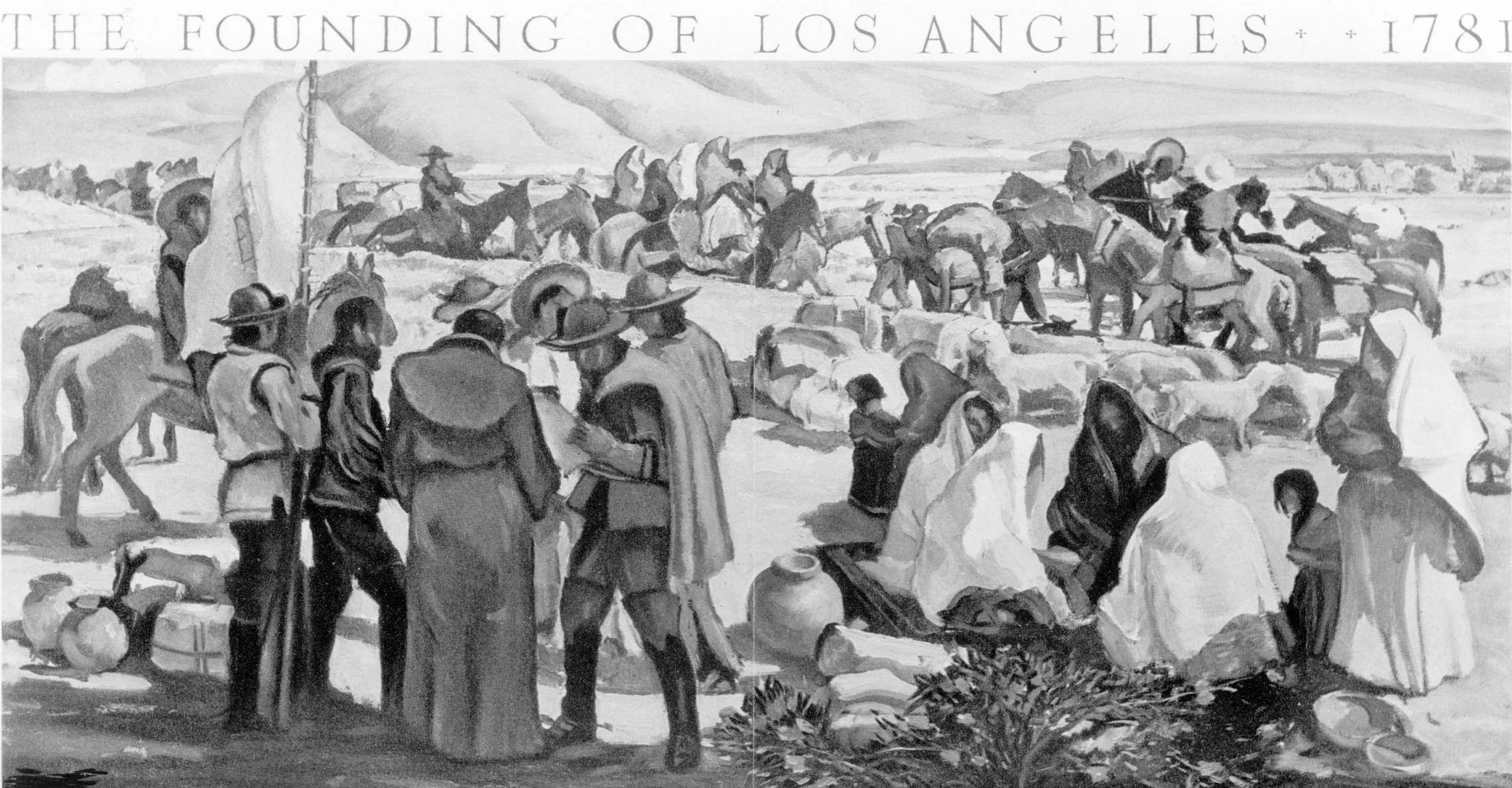 Image result for the founding of los angeles