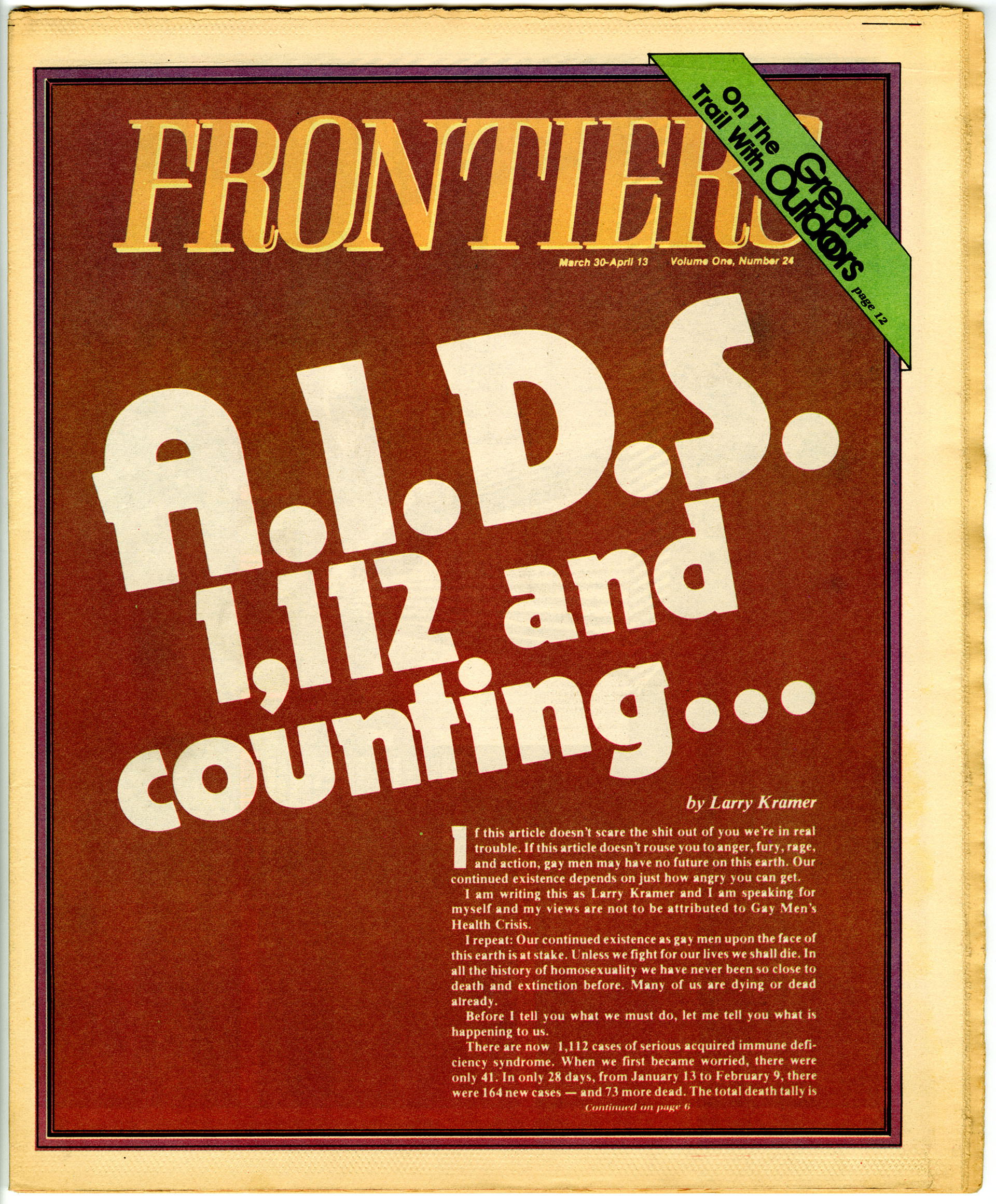 Frontiers, March 30/April 13, 1983