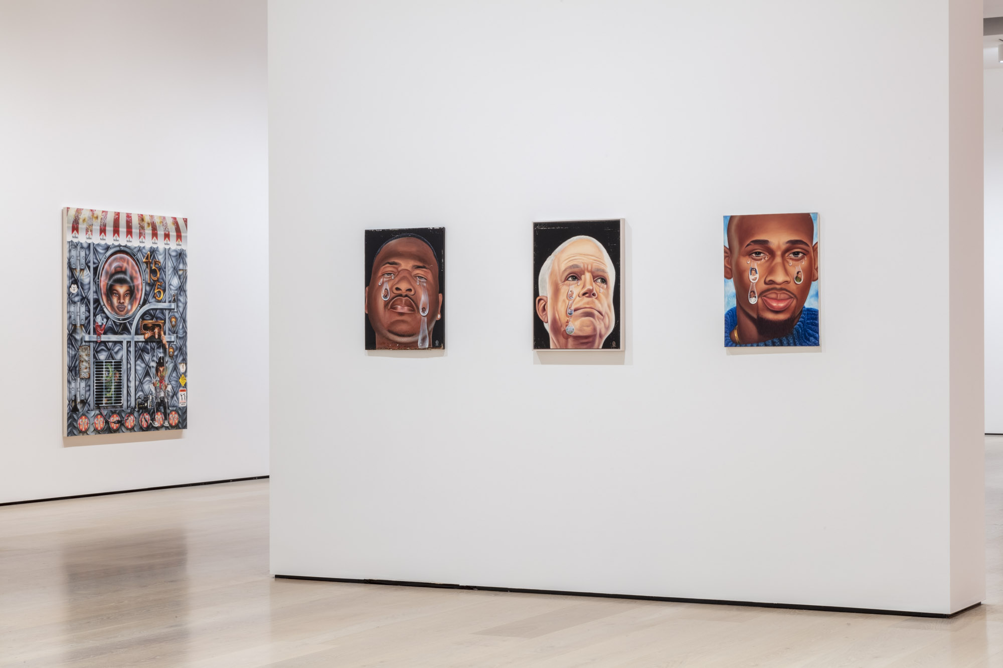 """An installation view of Fulton Leroy Washington's work at """"Made in L.A. 2020: a version."""" at Hammer Museum, Los Angeles. 