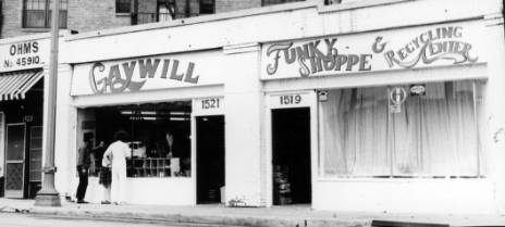 The Gay Community Services Center Gaywill Funky Shoppe and Recycling Center, 1971. | Pat Rocco, ONE National Gay and Lesbian Archives, USC Libraries