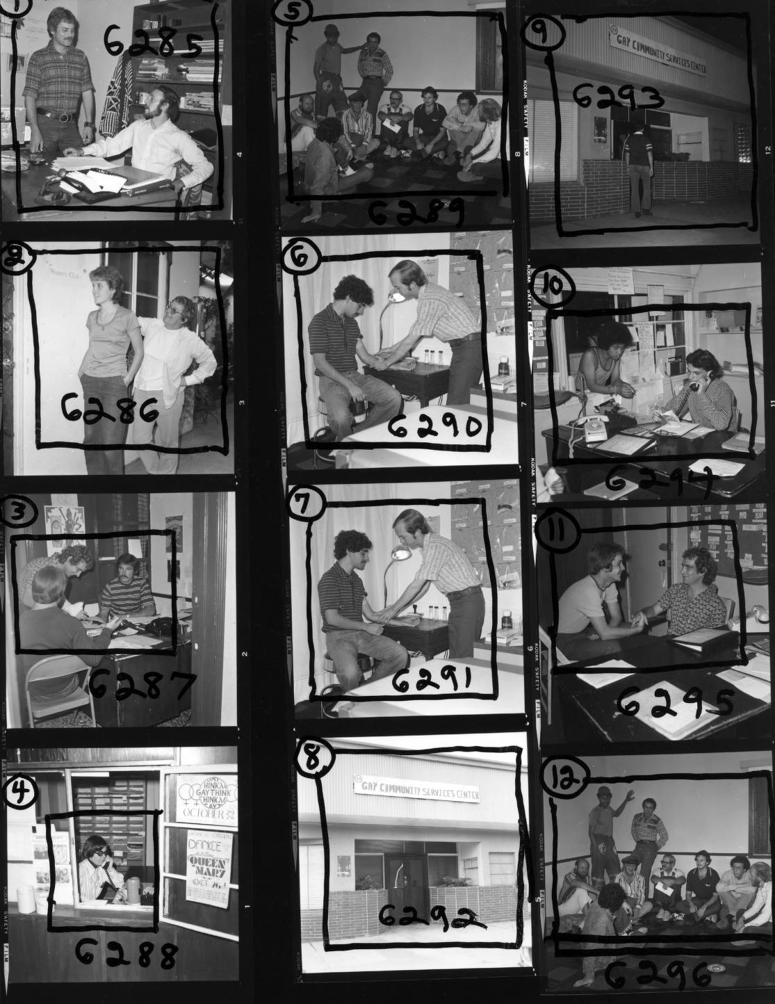 Contact sheet showing various social services rendered by the GCSC