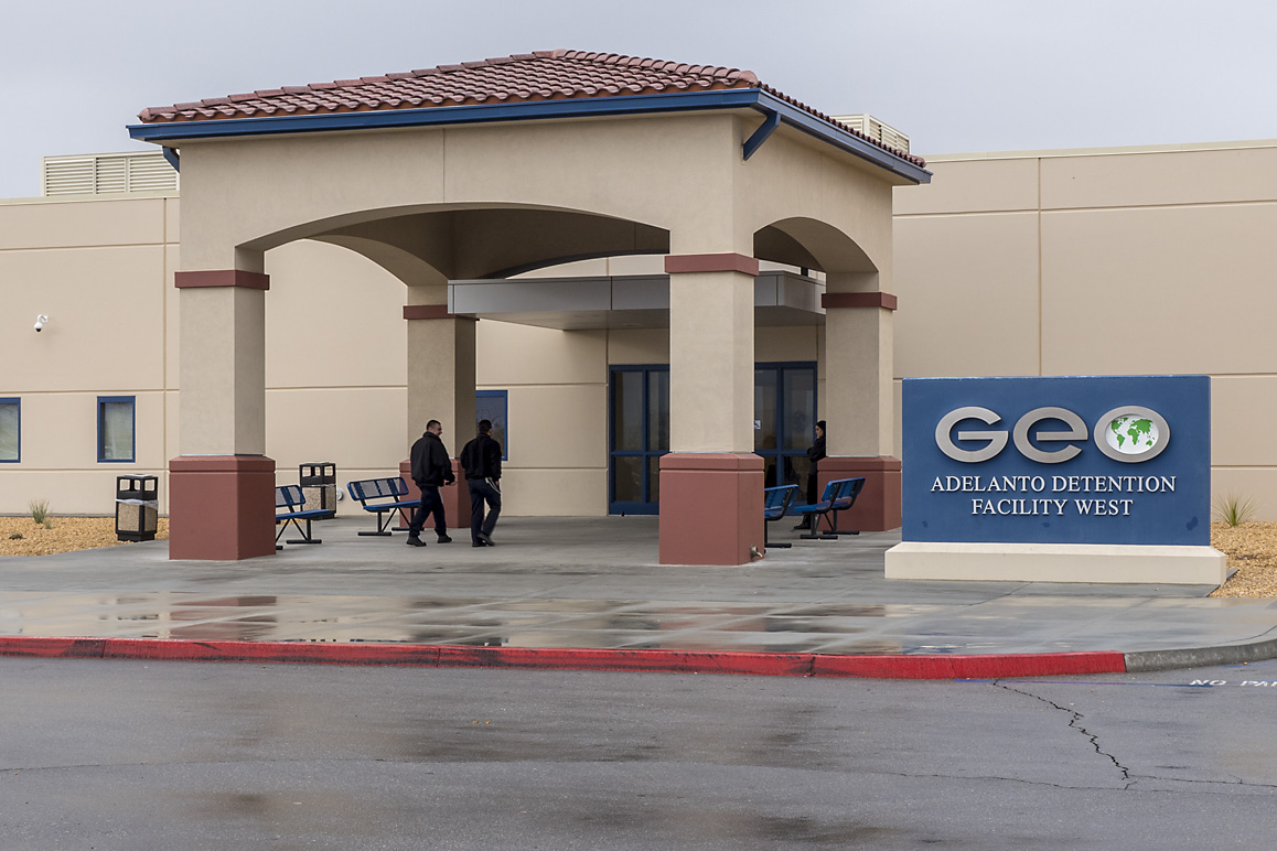 GEO Group, Inc.'s West Detention Center is one of three prison facilities owned and operated in Adelanto for the for-profit corporation. Photo: Kim Stringfellow.