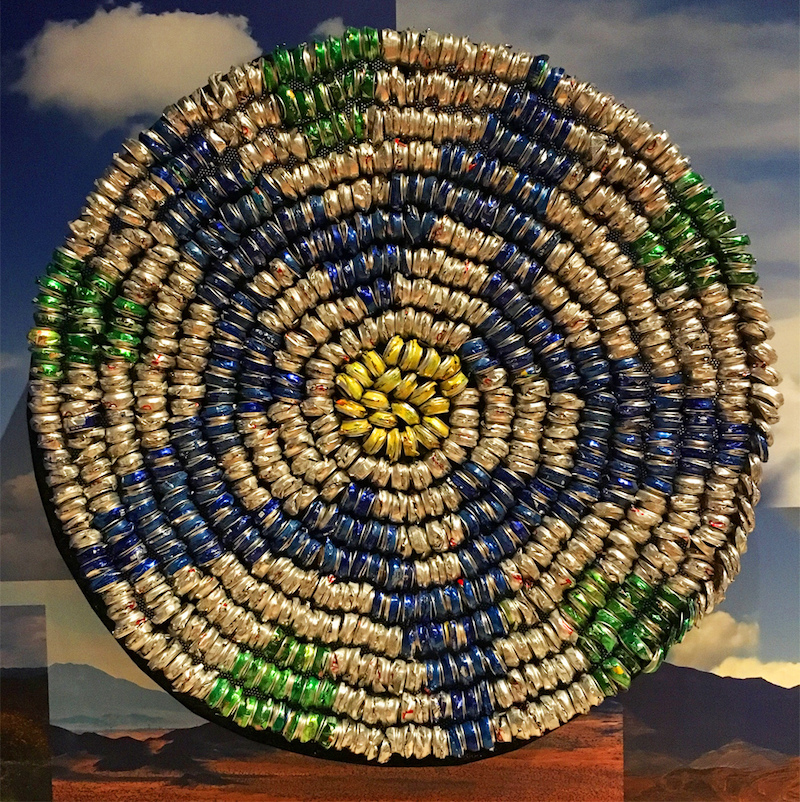 """Continuum Basket Flora"" by Gerald Clarke Jr. reflects the centuries-old Cahuilla tradition of basket-making."