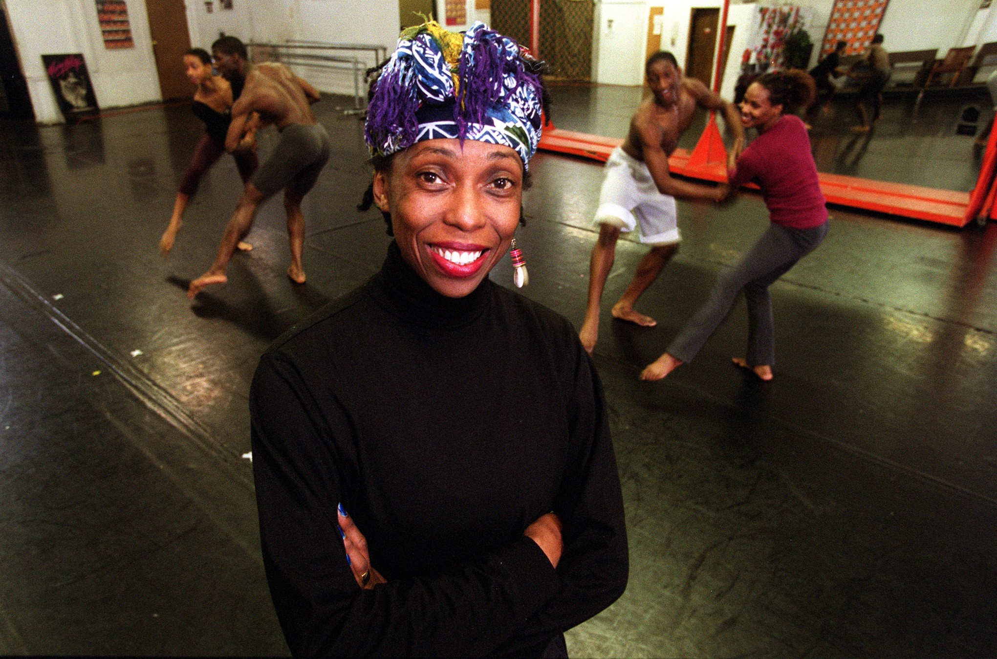 Lula Washington in her dance studio