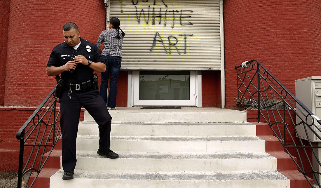 On October 11, 2016, both Nicodim and Venus LA galleries were vandalized. | Liz O. Baylen/Getty Images