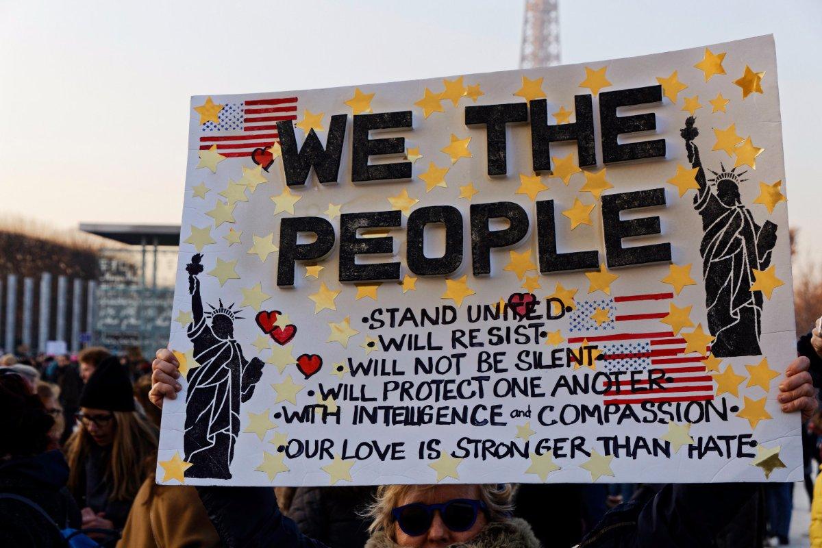 Women's March Against Trump. | Bernard Menigault/Getty Images