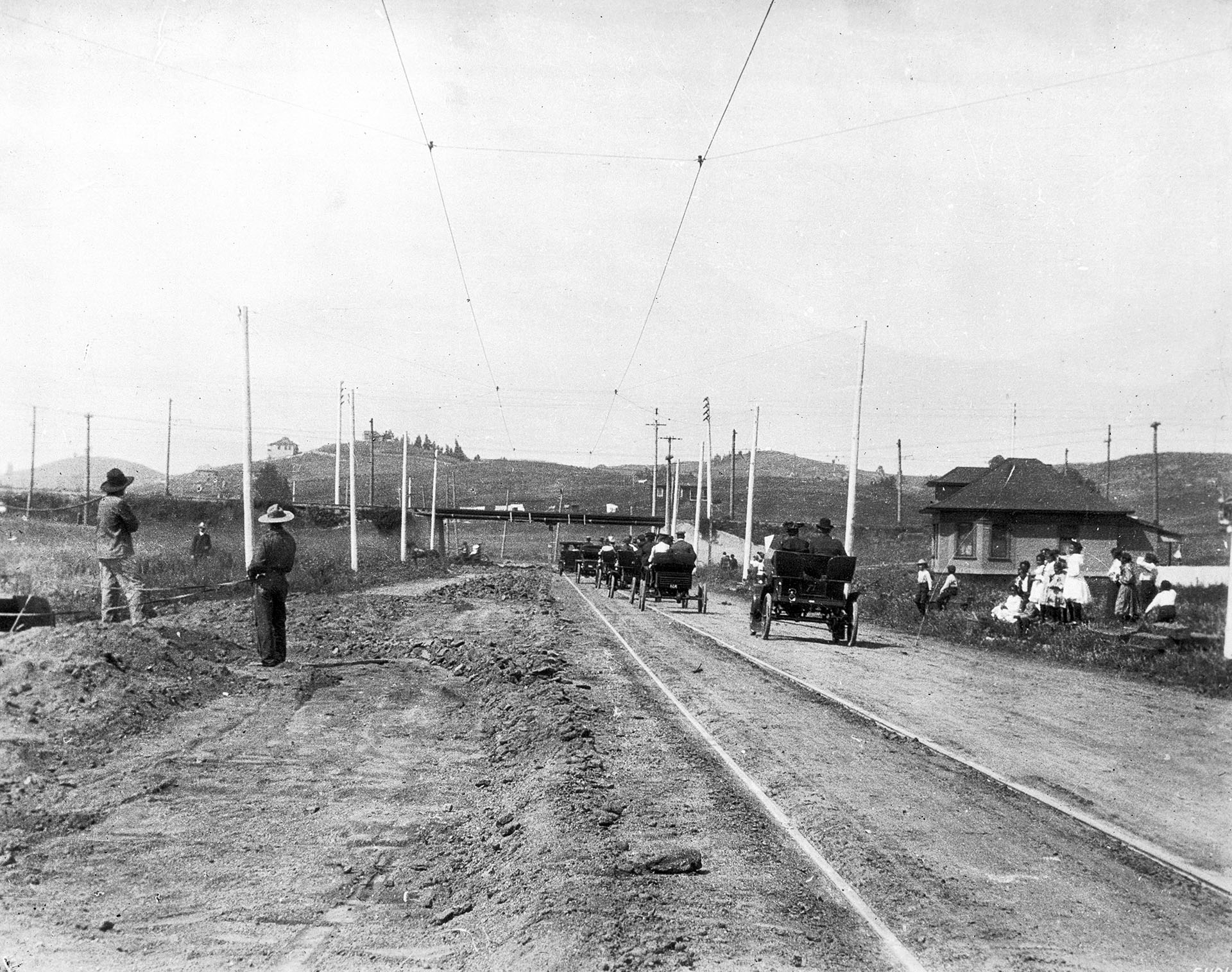 Lake Shore (now Glendale) south of Sunset in 1904
