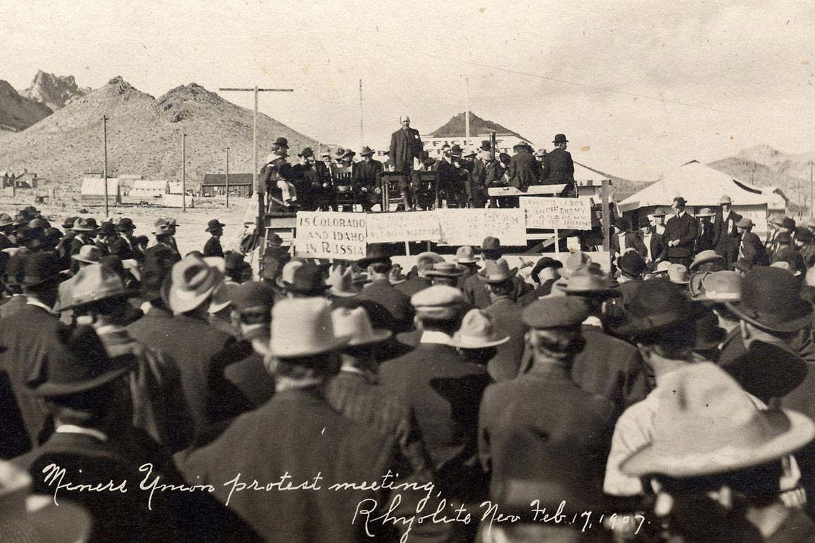 Miner's union protest, February 17, 1907. | A. E. Holt. Courtesy of University of Nevada, Reno, Special Collections.