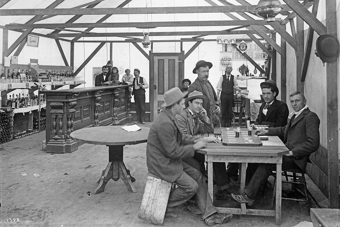 The Yellow Aster Saloon, Randsburg, CA, photographed by Charles C. Pierce, ca. 1900. | Courtesy of USC Libraries and California Historical Society.