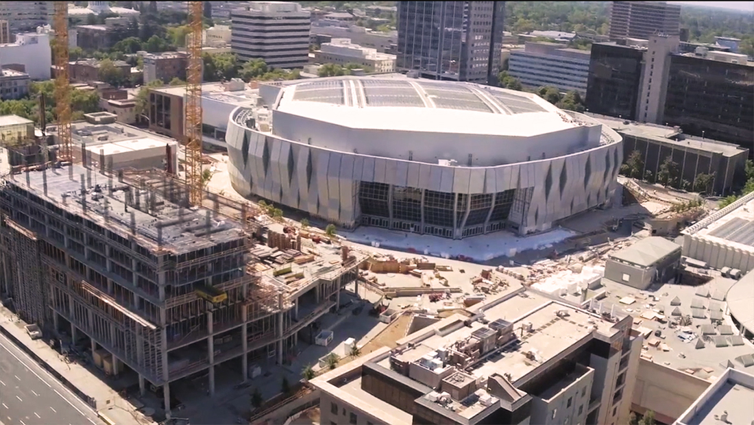 Construction of the Golden 1 Center.