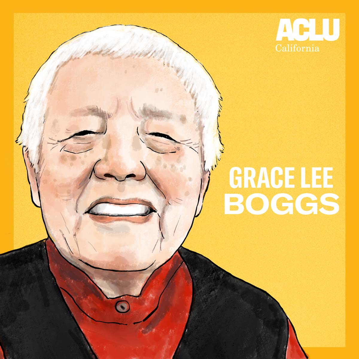 Portrait of Grace Lee Boggs | Audrey Chan, ACLU SoCal