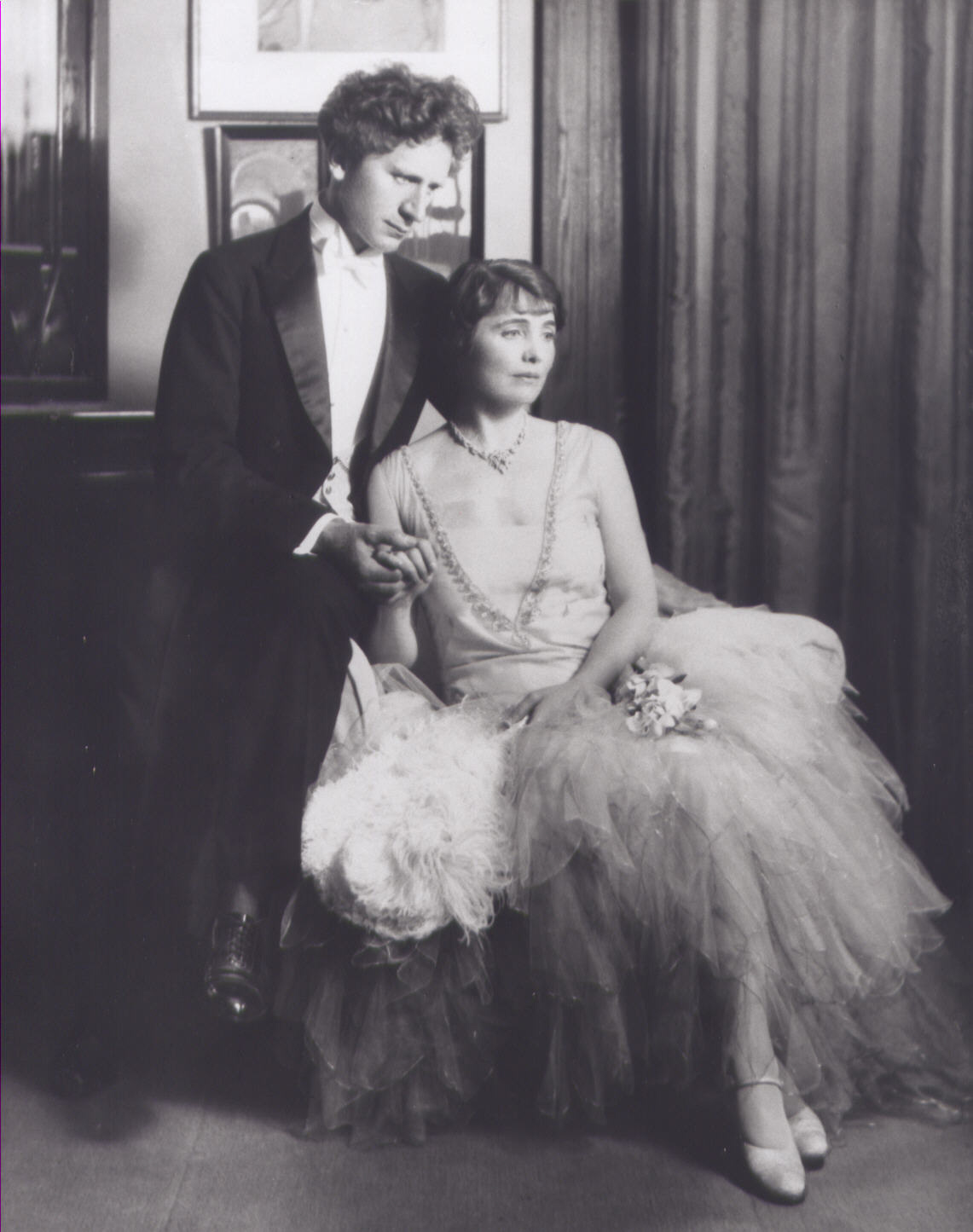 Composer and conductor Percy Grainger photographed with his bride Ella Viola Ström on their wedding day. They wed following a Los Angeles Philharmonic concert that Grainger guest conducted at the Hollywood Bowl. August 9, 1928. | Los Angeles Philharmonic