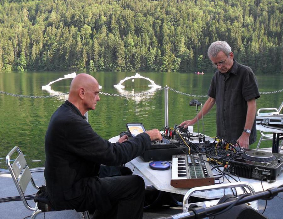 Hans-Joachim Roedelius with Dieter Moebius