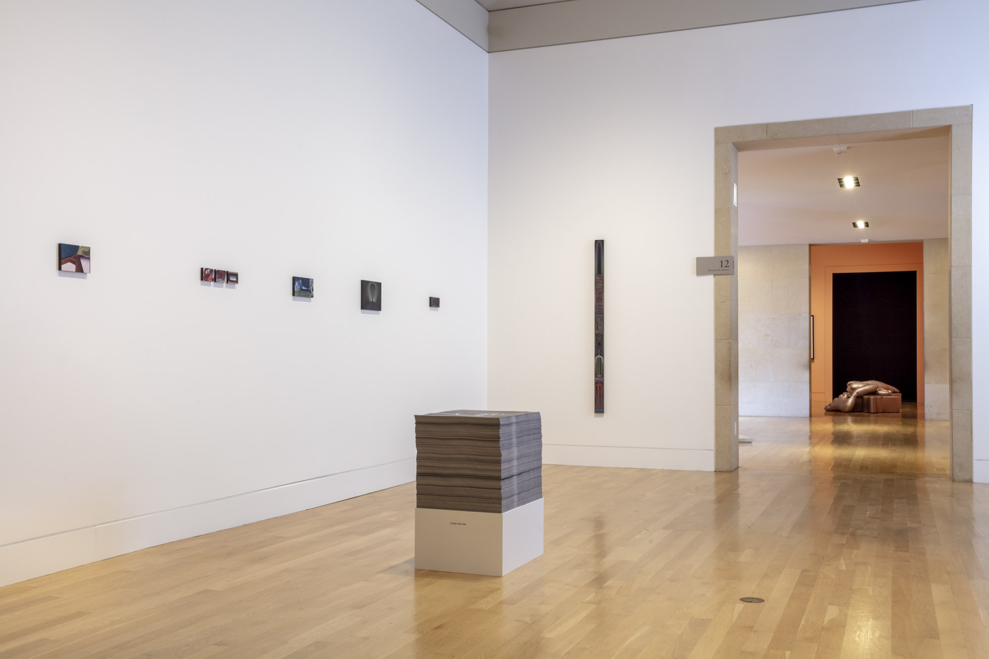"""An installation view of Hedi el Kholti's work at """"Made in L.A. 2020: a version"""" at The Huntington Library, Art Museum, and Botanical Gardens, San Marino. 