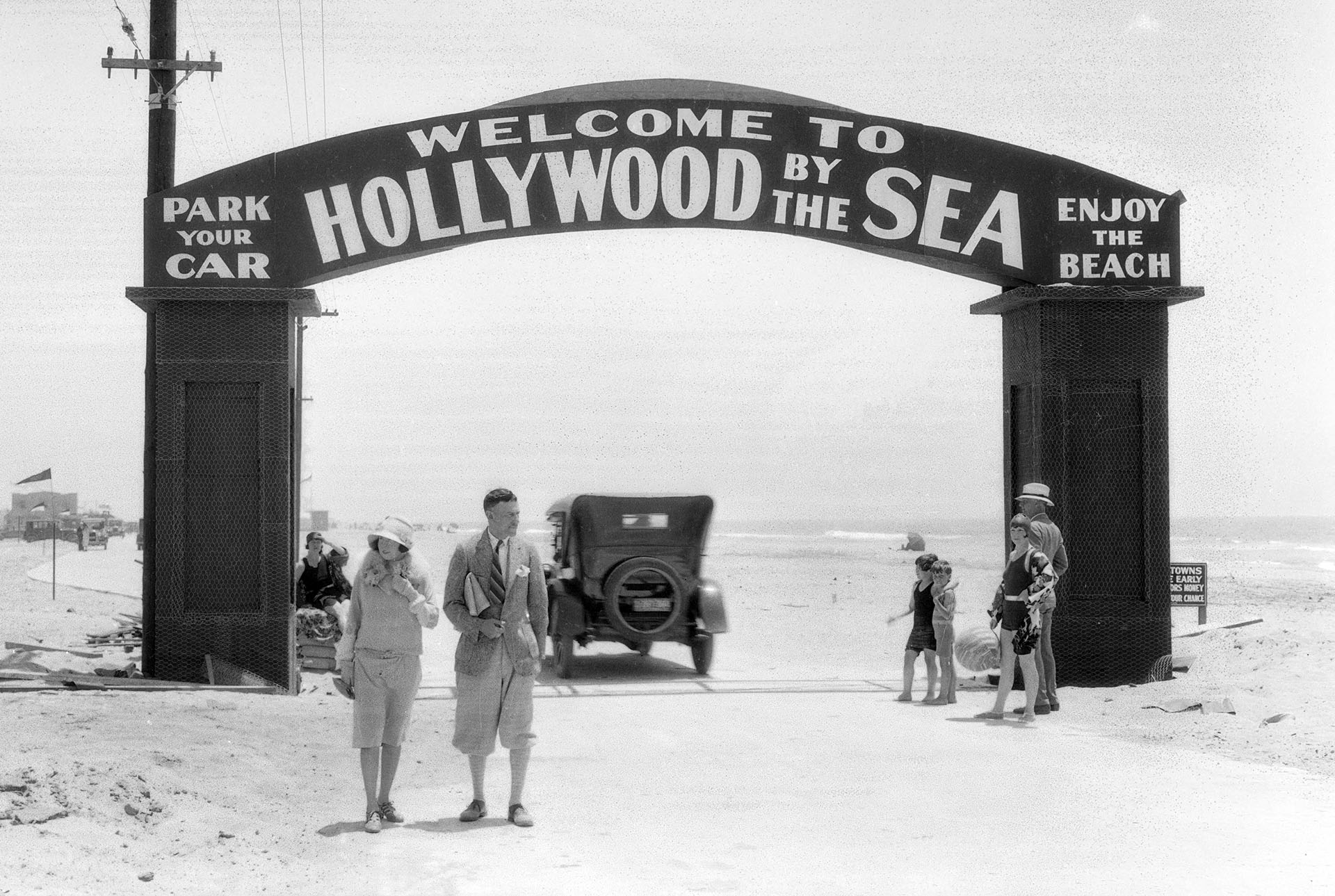 In 1926, a stretch of Oxnard's beach was transformed into Hollywood-by-the-Sea, fifty miles west of Tinseltown. Courtesy of the USC Libraries - Dick Whittington Photography Collection.