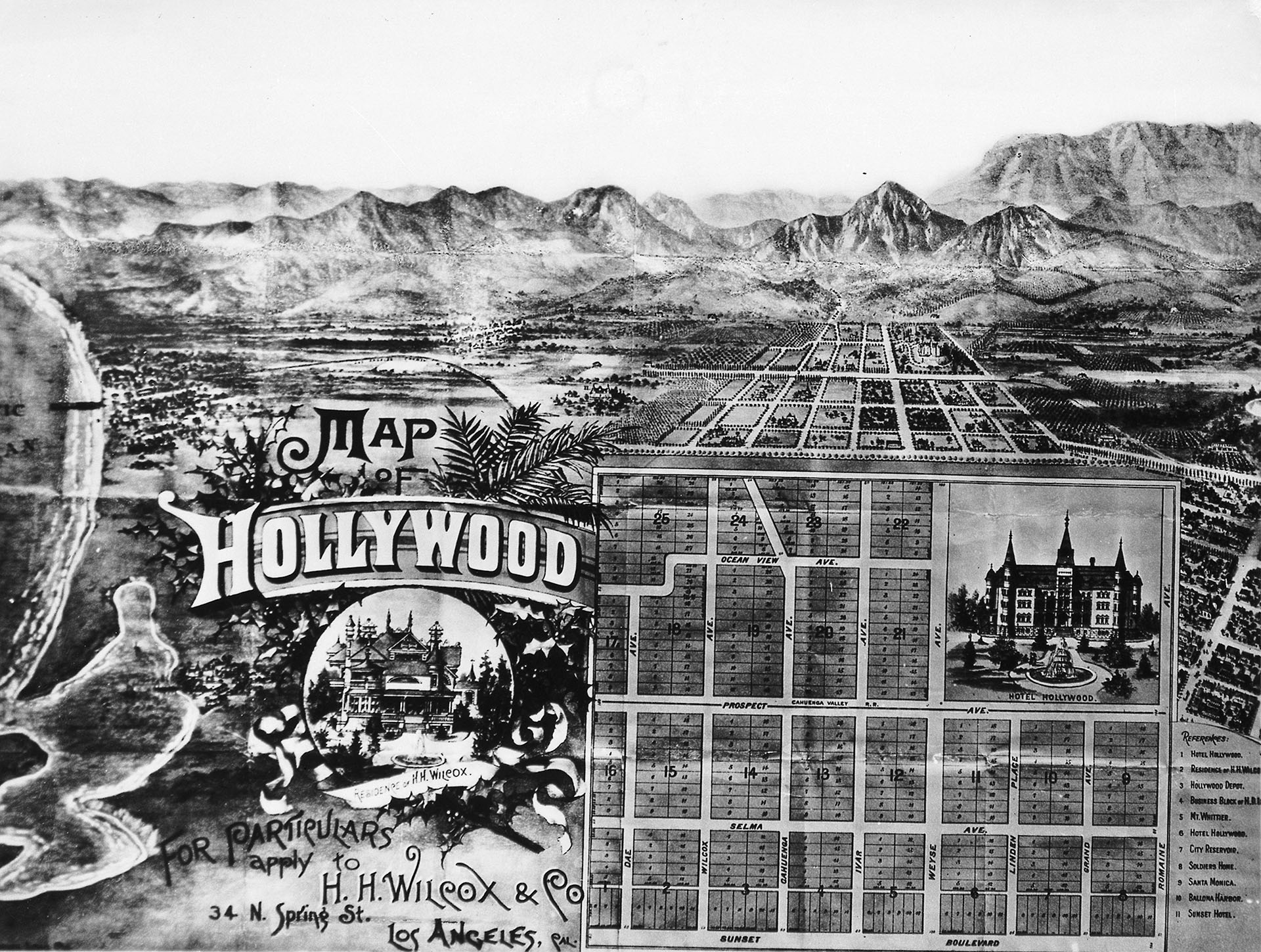 Hollywood real estate map