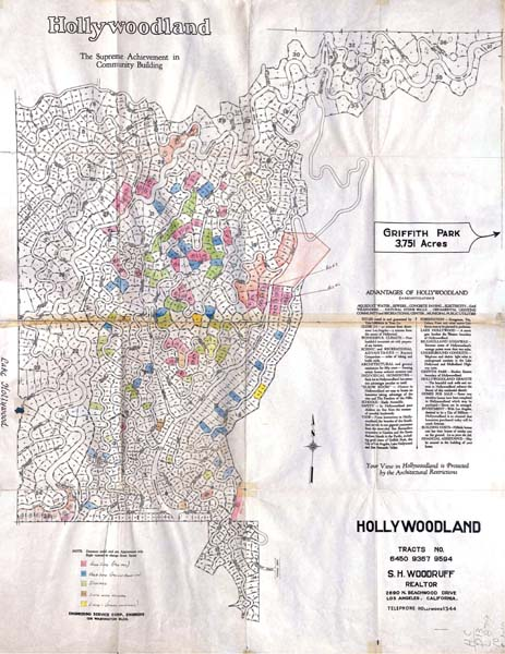 Hollywoodland tract map