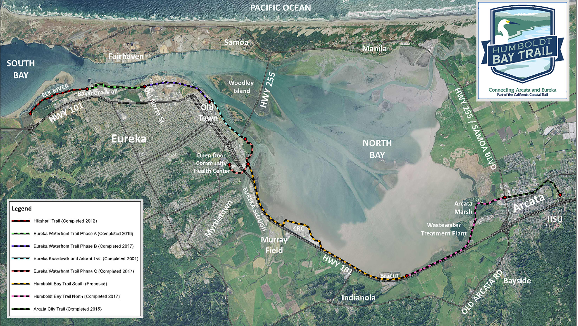 humboldt bay trail map