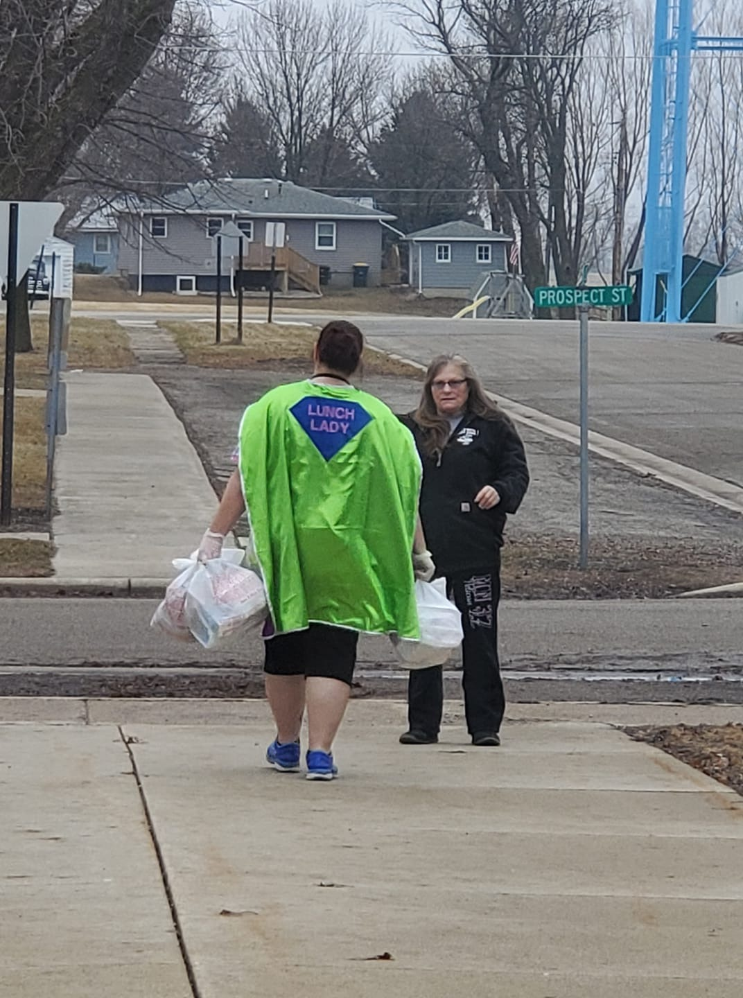Heroic lunch lady delivering food | Kacie Micken Schafer from Milroy, Minnesota