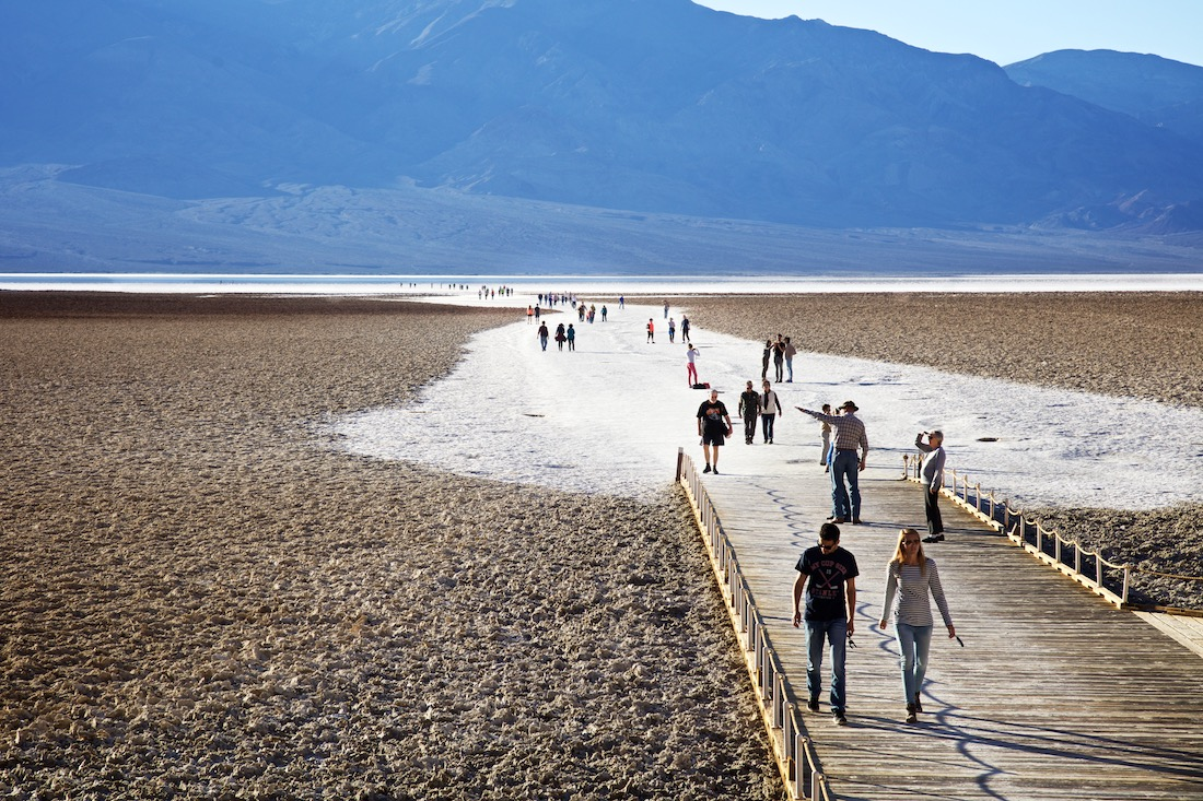 Tourists at Badwater Basin - Death Valley, CA 2015 | Photo: Osceola Refetoff