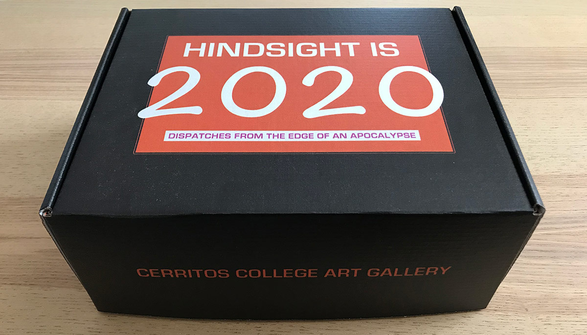 "Exterior of ""Hindsight Is 2020: Dispatches from the Edge of an Apocalypse,"" exhibition-in-a-box. 