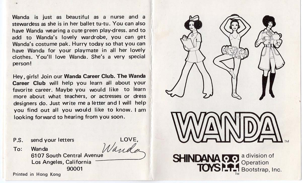 Catalog for the Wanda doll showcasing her many different careers | Courtesy of Billie Green