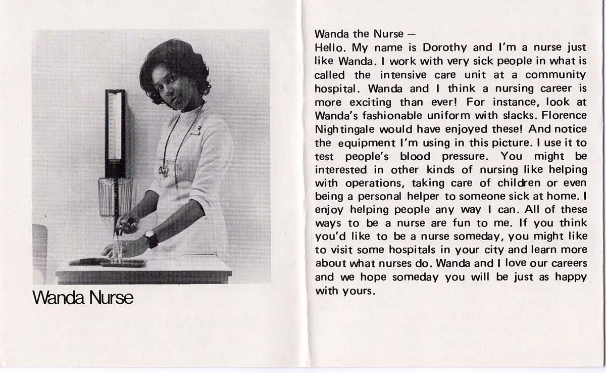 Catalog for the Wanda doll showcasing her career as a nurse | Courtesy of Billie Green