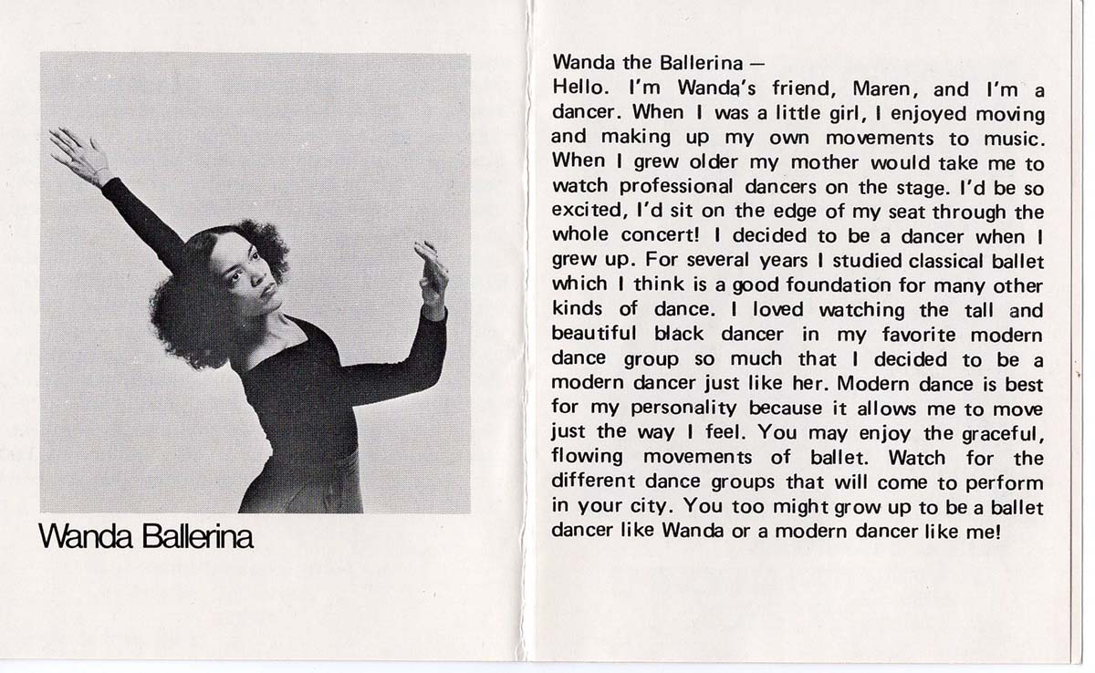 Catalog for the Wanda doll showcasing her career as a ballerina| Courtesy of Billie Green