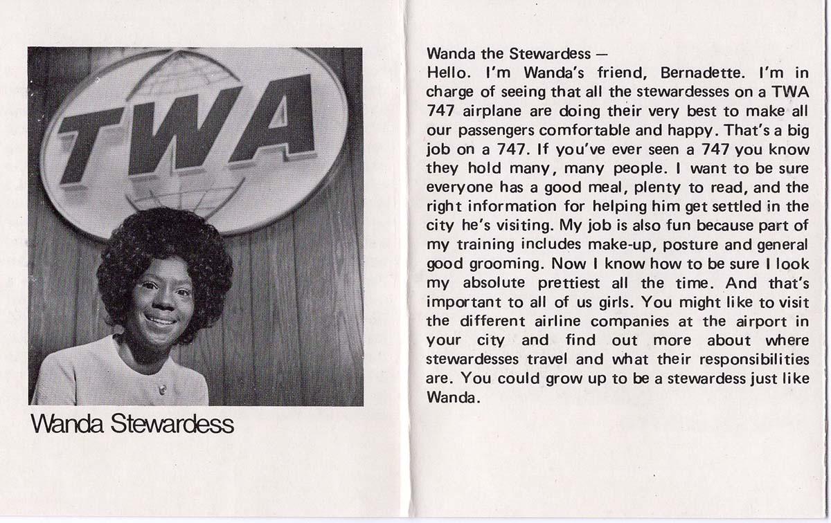 Catalog for the Wanda doll showcasing her career as a stewardess | Courtesy of Billie Green