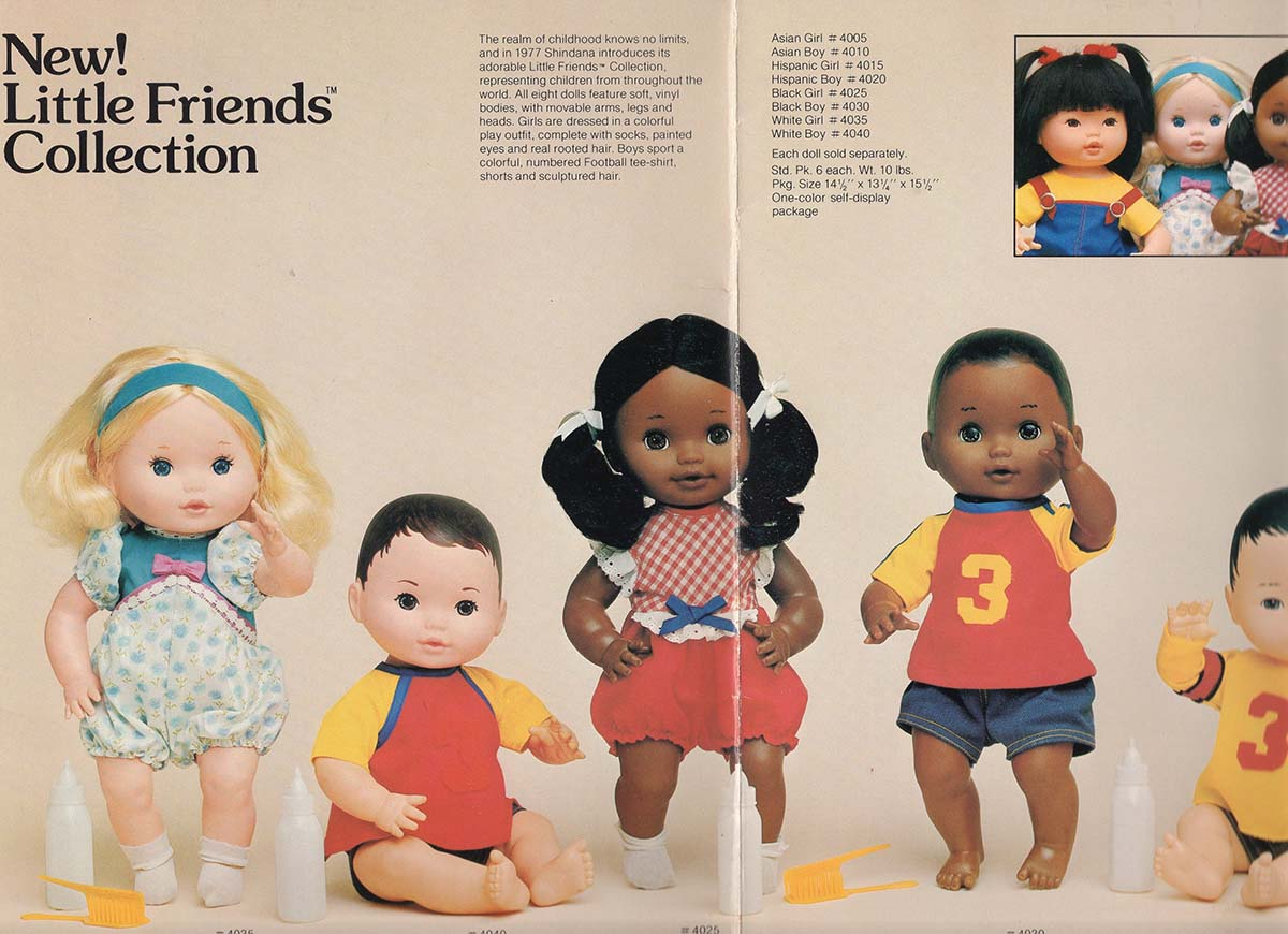 Little Friends collection from Shindana Toys showing dolls of different ethnicities | Courtesy of Billie Green