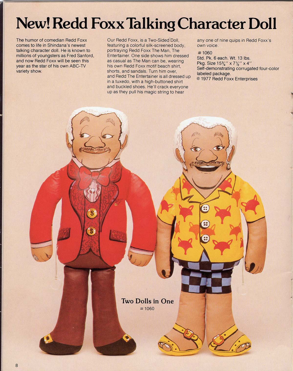 The Redd Foxx Talking Character Doll was modeled after Fred Sanford | Courtesy of Billie Green