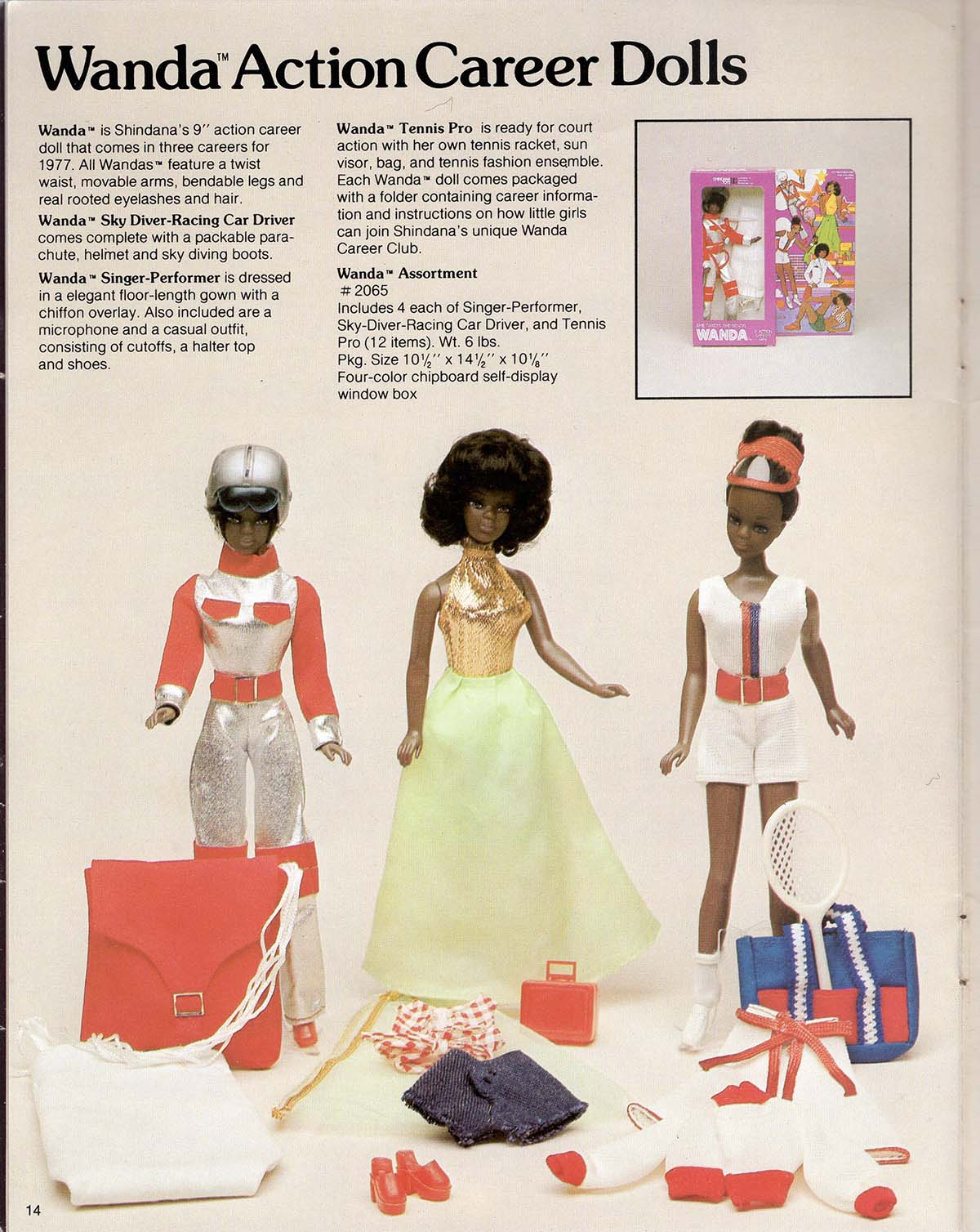 The Wanda Action Career Dolls showcases different career paths for young African American women Slade the Super Agent doll from Shindana Toys  | Courtesy of Billie Green