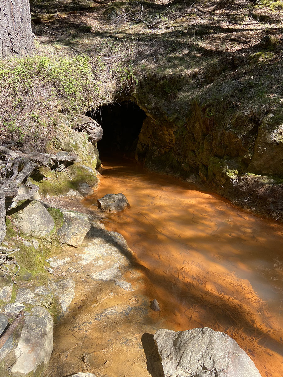 iller tunnel, pictured here, is where water and slurry discharged from Malakoff Diggins during the days of hydraulic mining.    Alexandria Herr