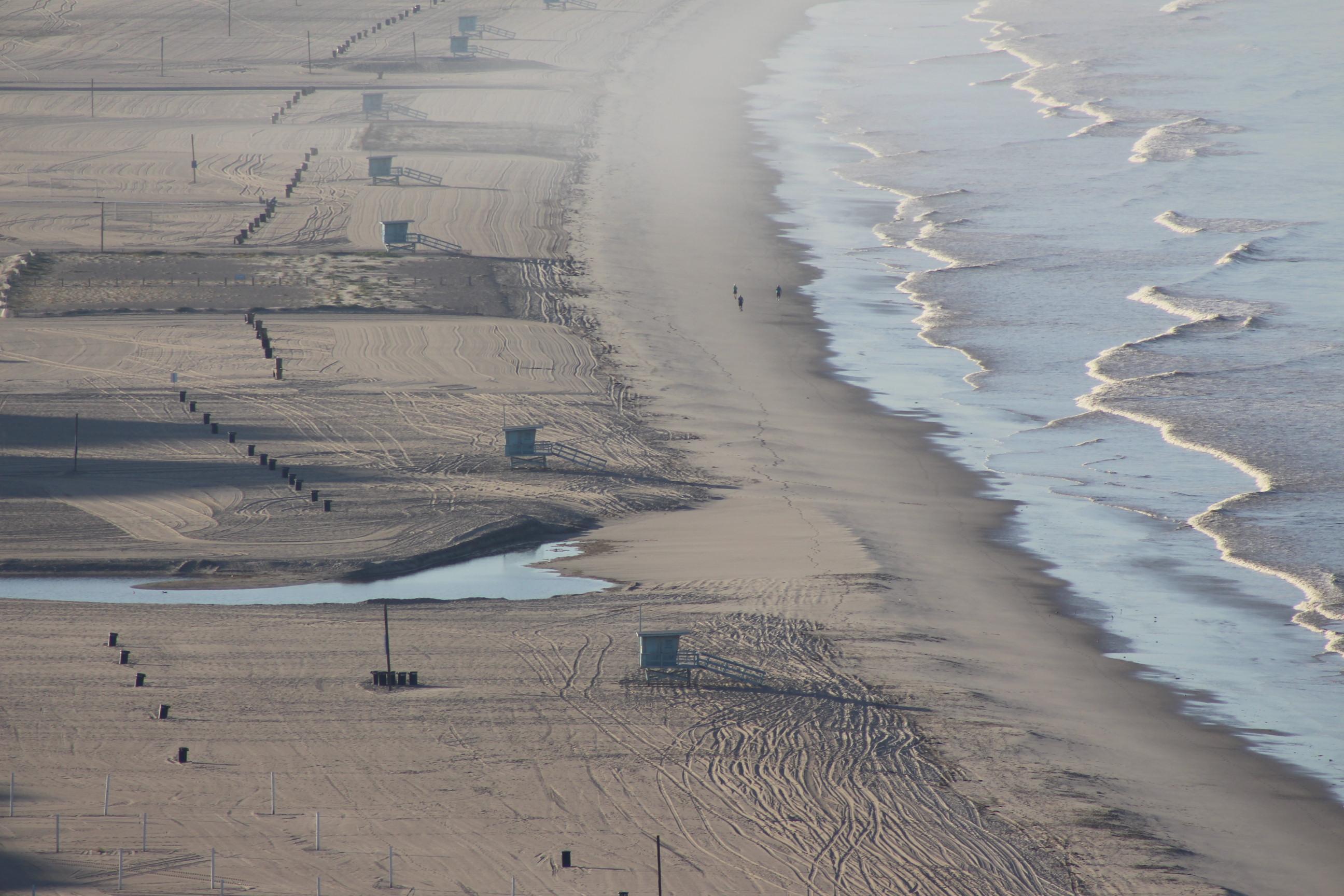 View of empty beach in Santa Monica on May 9, 2020 | Karen Foshay