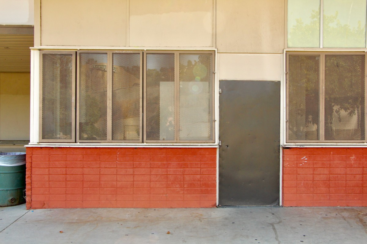 Boarded windows at Eagle Rock Recreation Center | Jordan Riefe