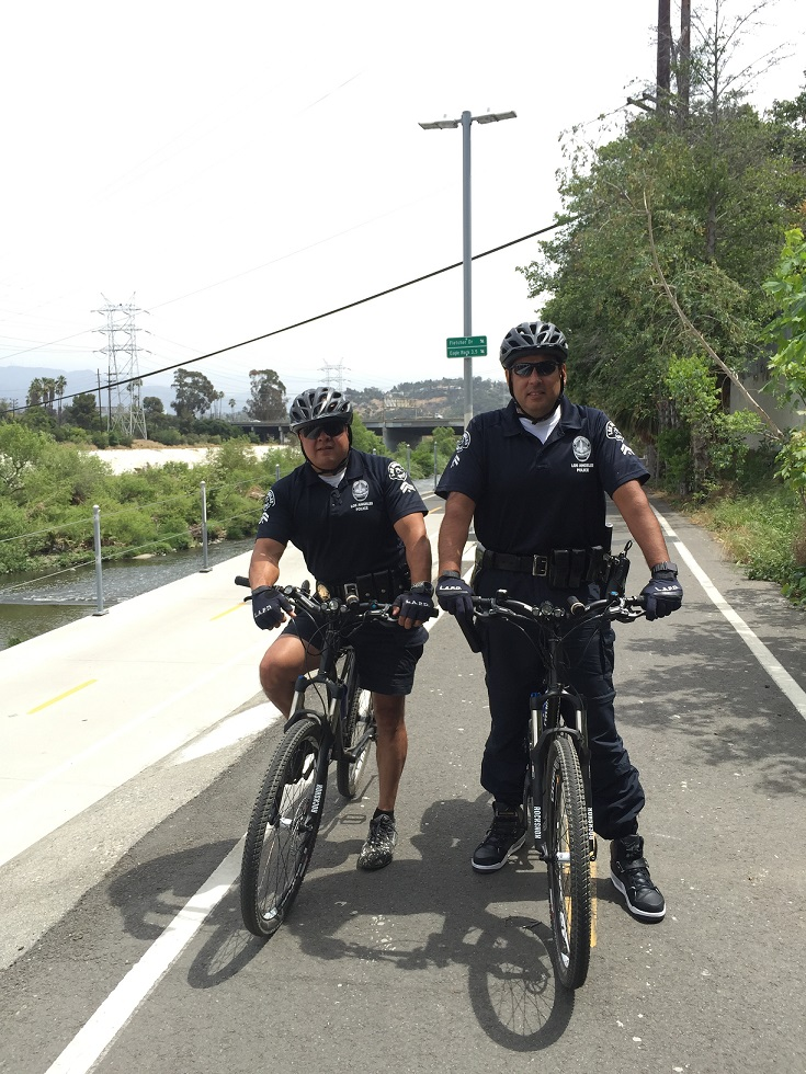Louis Reyes and Leo Rey: Officer Bike Ride (2)