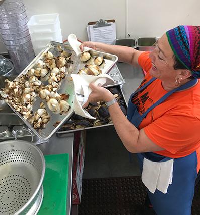 Karla Rosales-Barrios preparing her food | Courtesy of Karla Rosales-Barrios