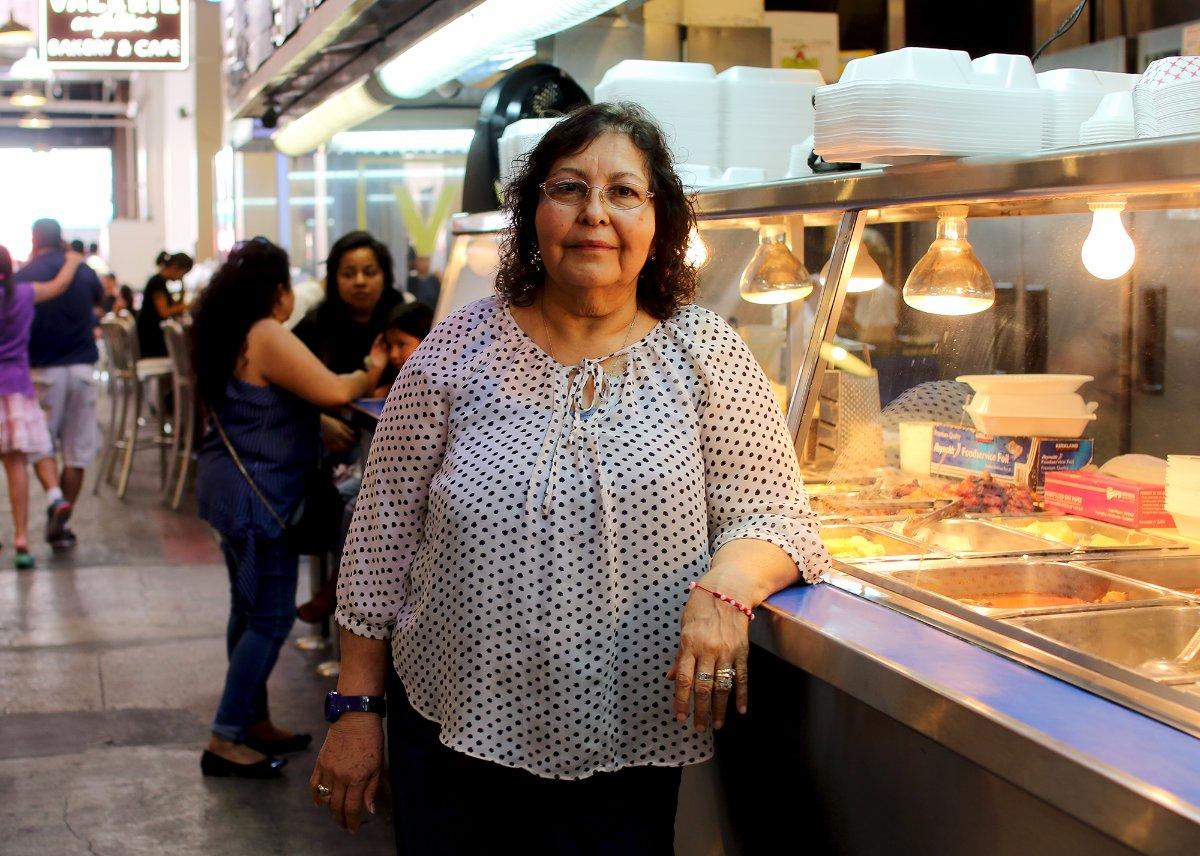 Sara Clark of Sarita's Pupuseria | Samanta Helou Hernandez Grand Central Market