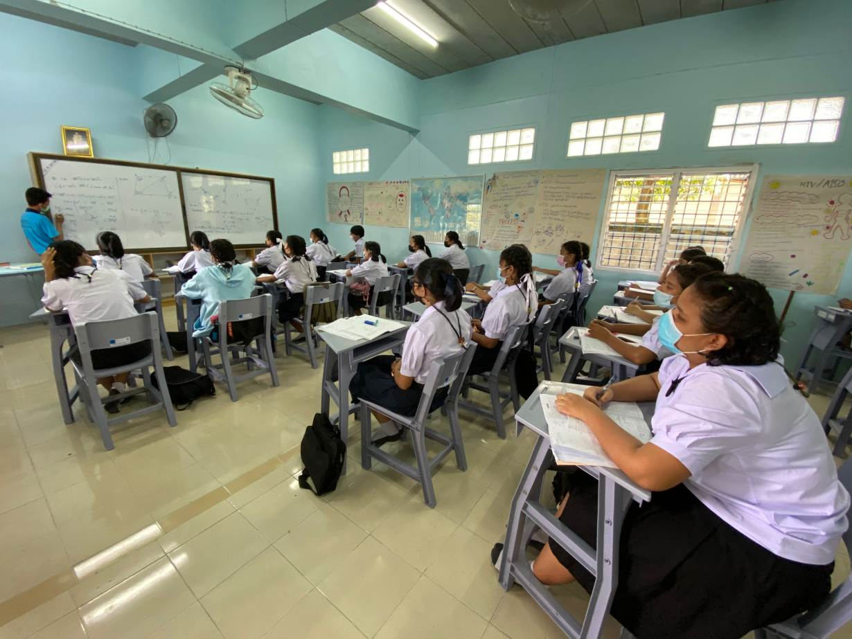 Burmese students study at a migrant learning center managed by the Marist Asia Foundation in Ranong, Thailand on September 10, 2020. | Thomson Reuters Foundation/Nanchanok Wongsamuth