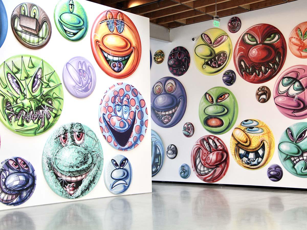 "Installation photo of ""MOODZ"" by Kenny Scharf, on view at Jeffrey Deitch gallery | Jordan Riefe"